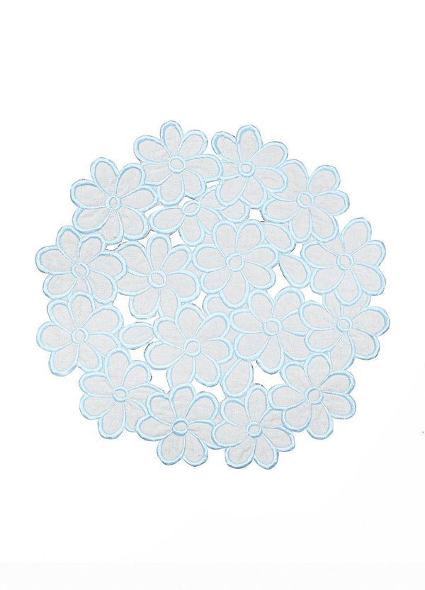 DAISY PLACEMATS SET BABY BLUE