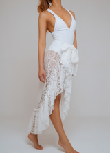 SOHO WRAP SKIRT WHITE