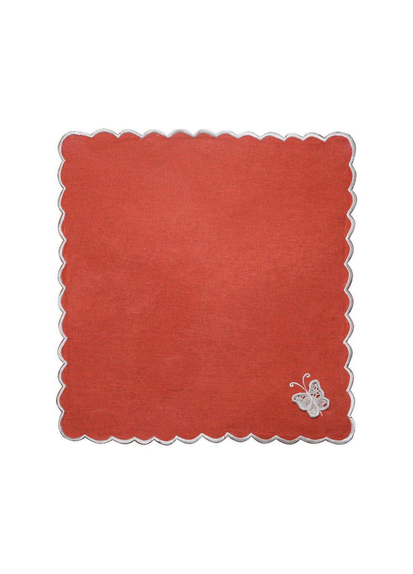 GARDEN NAPKIN SET ROUGE