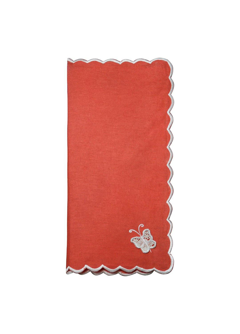NAPKINS SET ROUGE