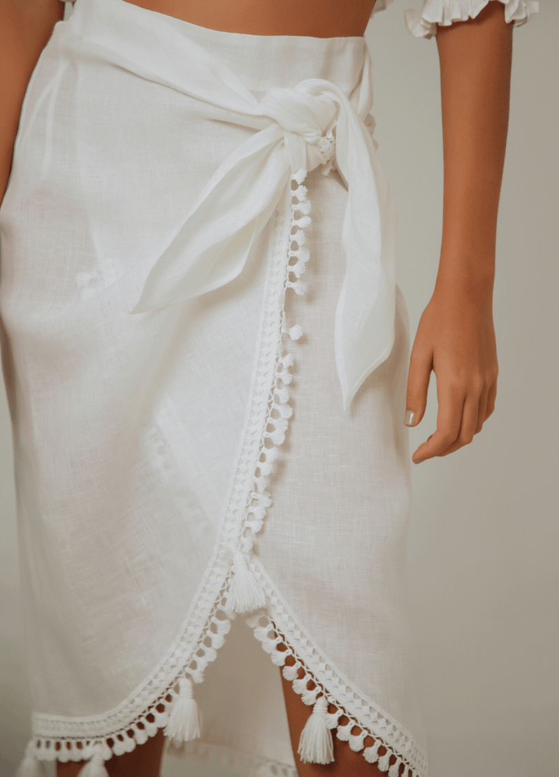 AGUAS BLANCAS SKIRT WHITE