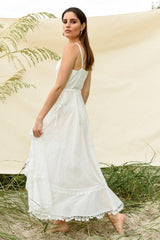 LA CONCHA DRESS WHITE