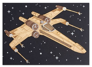 Star Wars wood X wing fighter, general