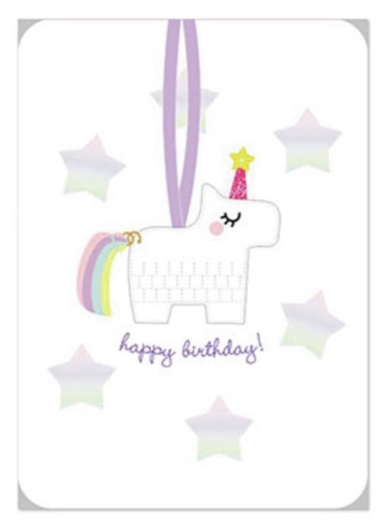 Unicorn piñata ornament, BD
