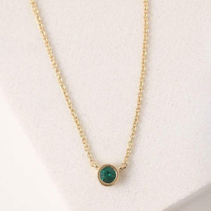Birthstone Necklace May (Gold/Silver)
