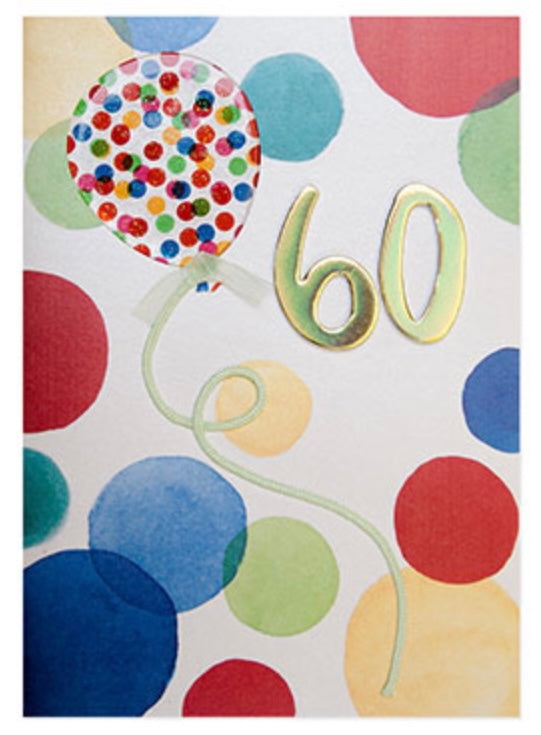 60th Birthday Balloons, BD