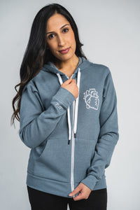 Cross-Stitch Heart Hoodie - Lubdub Apparel