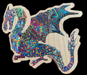 Dragon Wooden Sticker