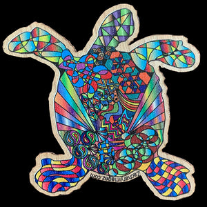 Sea Turtle Wooden Sticker