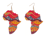 EARRINGS - MULTICOLOR ANIMAL PRINT AFRICAN SHAPE - Lovely Push Boutique