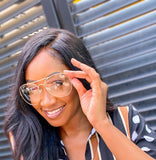 LARGE AVIATOR GLASSES - GOLD - Lovely Push Boutique