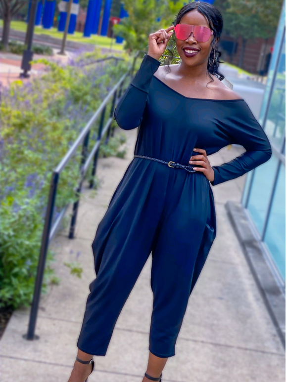 OFF THE SHOULDER JUMPSUIT - Lovely Push Boutique