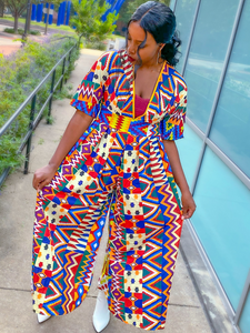 AFRICAN PRINT JUMPSUIT - Lovely Push Boutique
