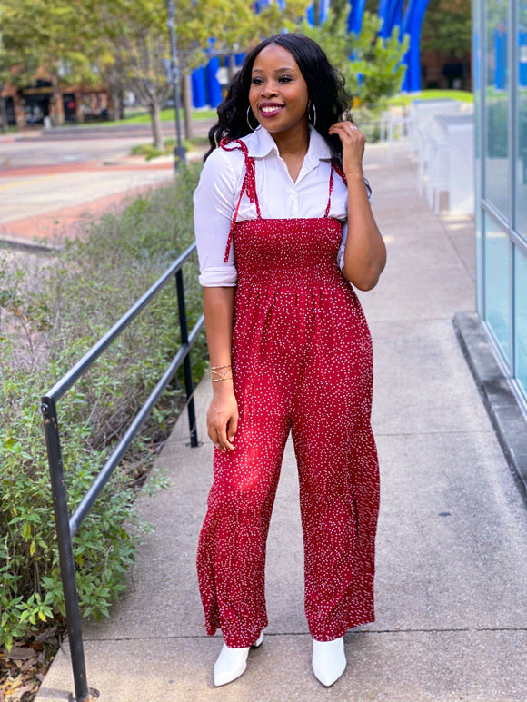 POLKA DOT JUMPSUIT - Lovely Push Boutique