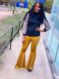 BELL BOTTOM VELVET PANTS - Lovely Push Boutique