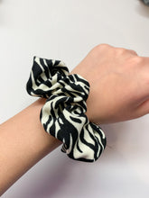 Load image into Gallery viewer, Zebra Print Scrunchie