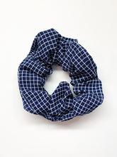 Load image into Gallery viewer, Grid Print Scrunchie