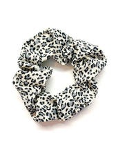 Load image into Gallery viewer, White Cheetah Scrunchie