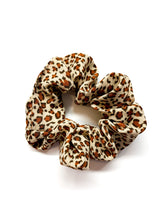 Load image into Gallery viewer, Brown Cheetah Scrunchie
