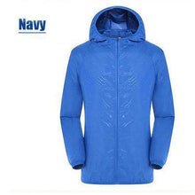Load image into Gallery viewer, Unisex Rain Jacket Packable Outdoor Ultra-Light Waterproof Hooded Pullover Anti-UV Coat