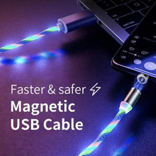 Load image into Gallery viewer, Glowing LED Magnetic 3 in 1 USB Charging Cable