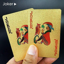 Load image into Gallery viewer, Luxury 24K Gold Foil Poker Playing Cards