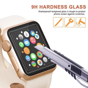 Buy Two Get Free shipping 3D curved tempered glass for Apple Watch 3 2 1 4, 42mm, 38mm 40mm 44mm series Protective screen protective film