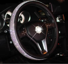 Load image into Gallery viewer, SWAROVSKI CRYSTAL STEERING WHEEL COVER