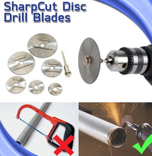 Load image into Gallery viewer, Disc Drill Blades and Mandrel(6pcs Set)