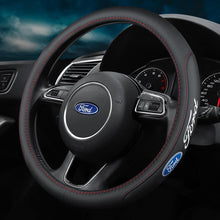Load image into Gallery viewer, 48%OFF-Last Day Promotion-Car Logo Handmade Leather Steering Wheel Cover