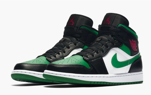 AIR JORDAN 1 MID Green Toe