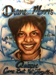 R.I.P. MEMORIAL AIRBRUSH PORTRAIT ON WHITE SHIRT