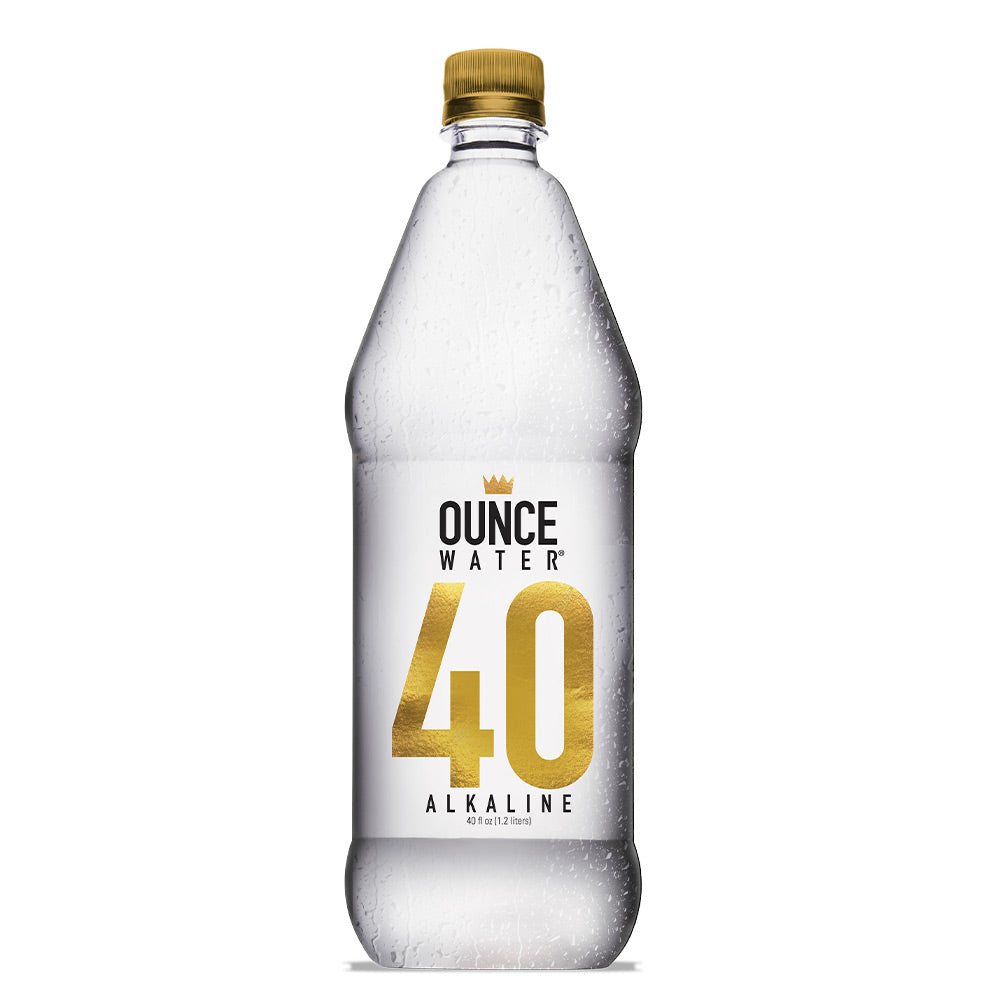 Ounce Water Bottled Alkaline Water, 40 Ounce (Pack of 12)