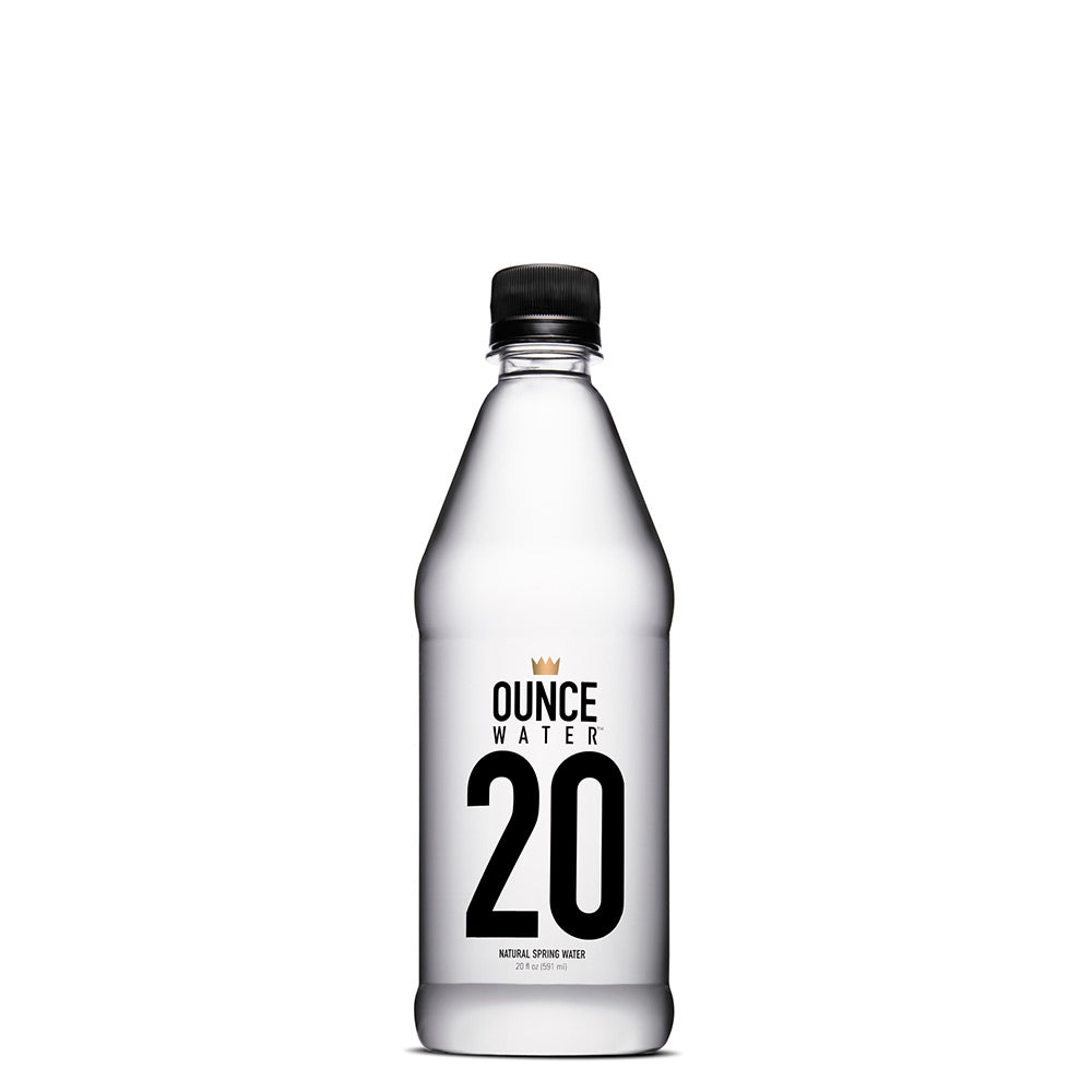 Ounce Water Bottled Natural Spring Water, 20 Ounce (Pack of 24)