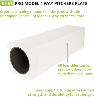 CHAMPION 4-WAY PITCHER'S RUBBER (PRO MODEL)-CHAMPION SPORTS-Home Team Sports & Apparel