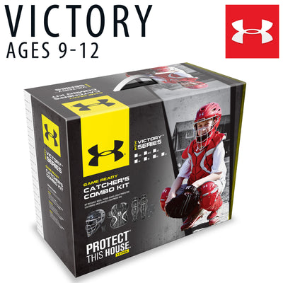 Under Armour Youth Victory Series Catchers Set - Black/Grey-AMPAC-Home Team Sports & Apparel