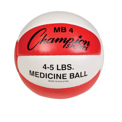 LEATHER MEDICINE BALL (4.40 LBS.)-CHAMPION SPORTS-Home Team Sports & Apparel