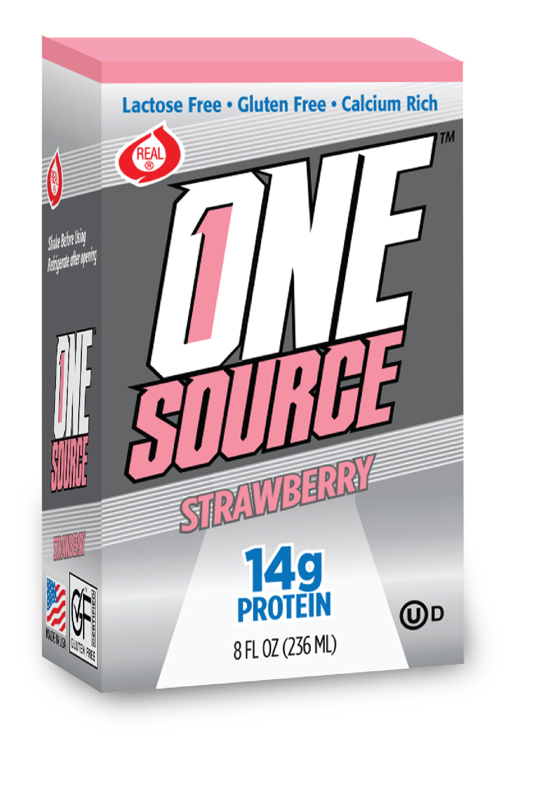 ONEsource™ - Strawberry - Pack of 3 - 8 Oz Container - Free Shipping