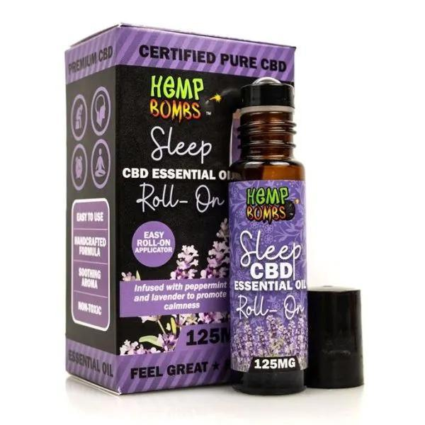 Hemp Bombs CBD Essential Oil Roller Sleep Blend