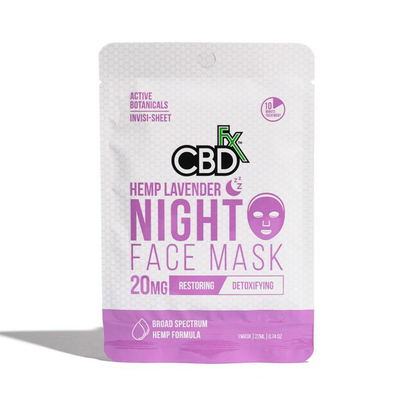 CBDfx Lavender (Night) Hemp Mask