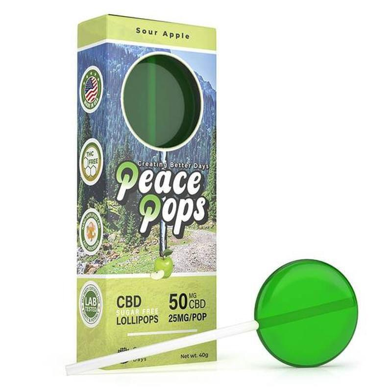 Creating Better Days CBD Peace Pops (50mg)