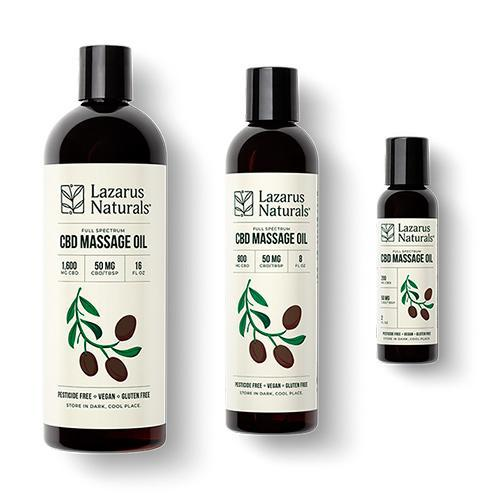 CBD Massage Oil by Lazarus Naturals