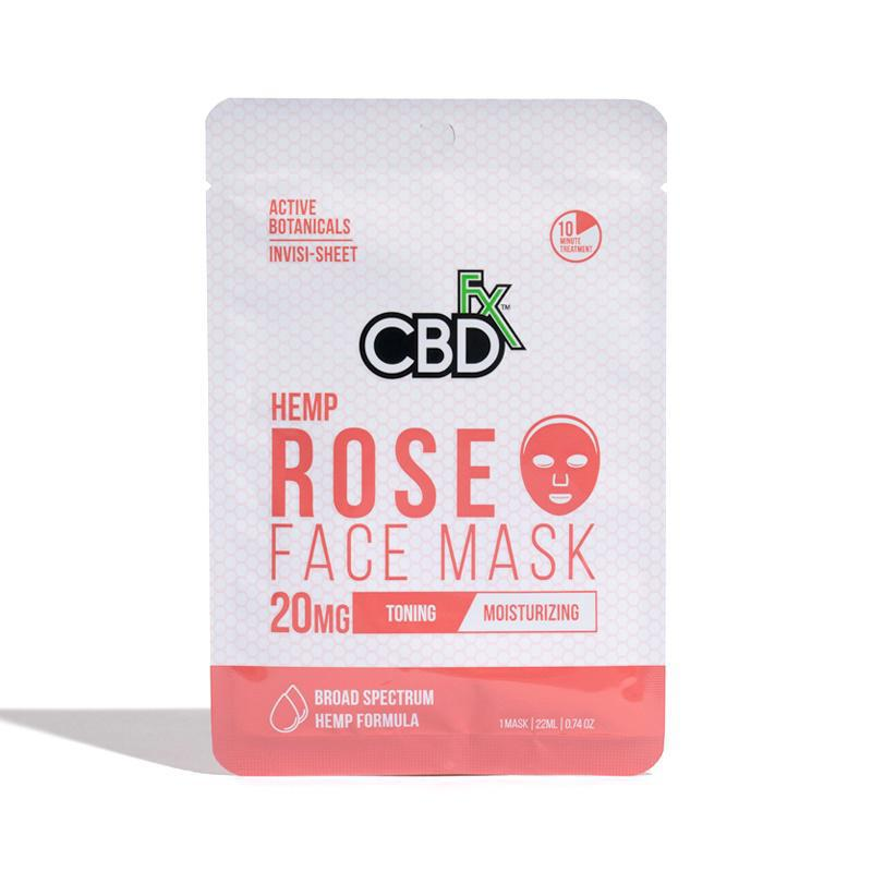 CBDfx Rose Hemp Mask