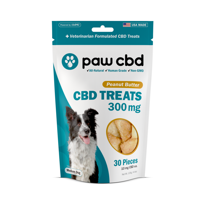 paw cbd Peanut Butter Dog Treats by cbdMD 30mg