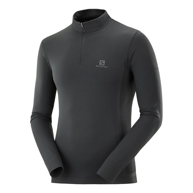 Explore Seamless Half Zip Men Black