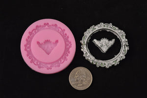 Circle Picture Frame Silicone Mold