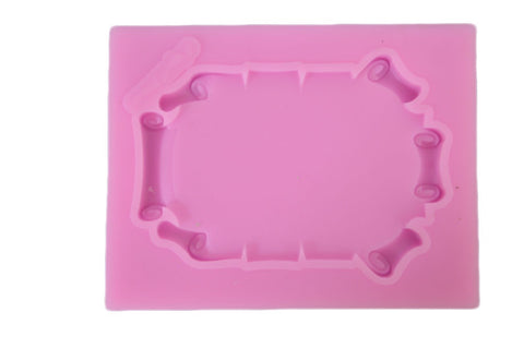 Scroll Accents Picture Frame Silicone Mold