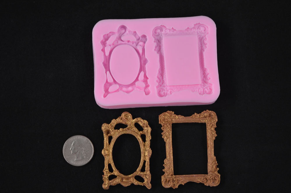 Picture Frame 2 Types Silicone Mold
