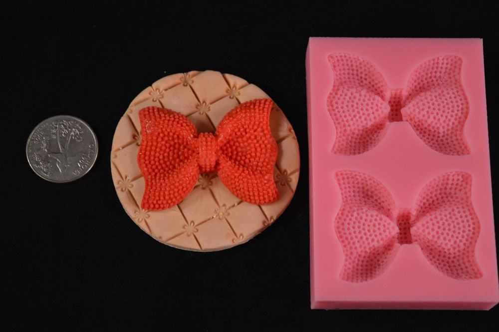 Big Funky Bow 2 Cavity Silicone Mold