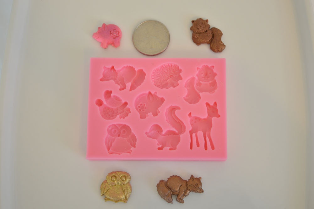 Forest Animals Mix Silicone Mold